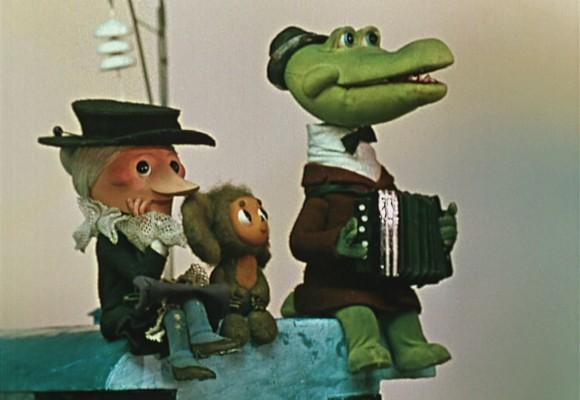Cheburashka and Gena crocodile cartoon