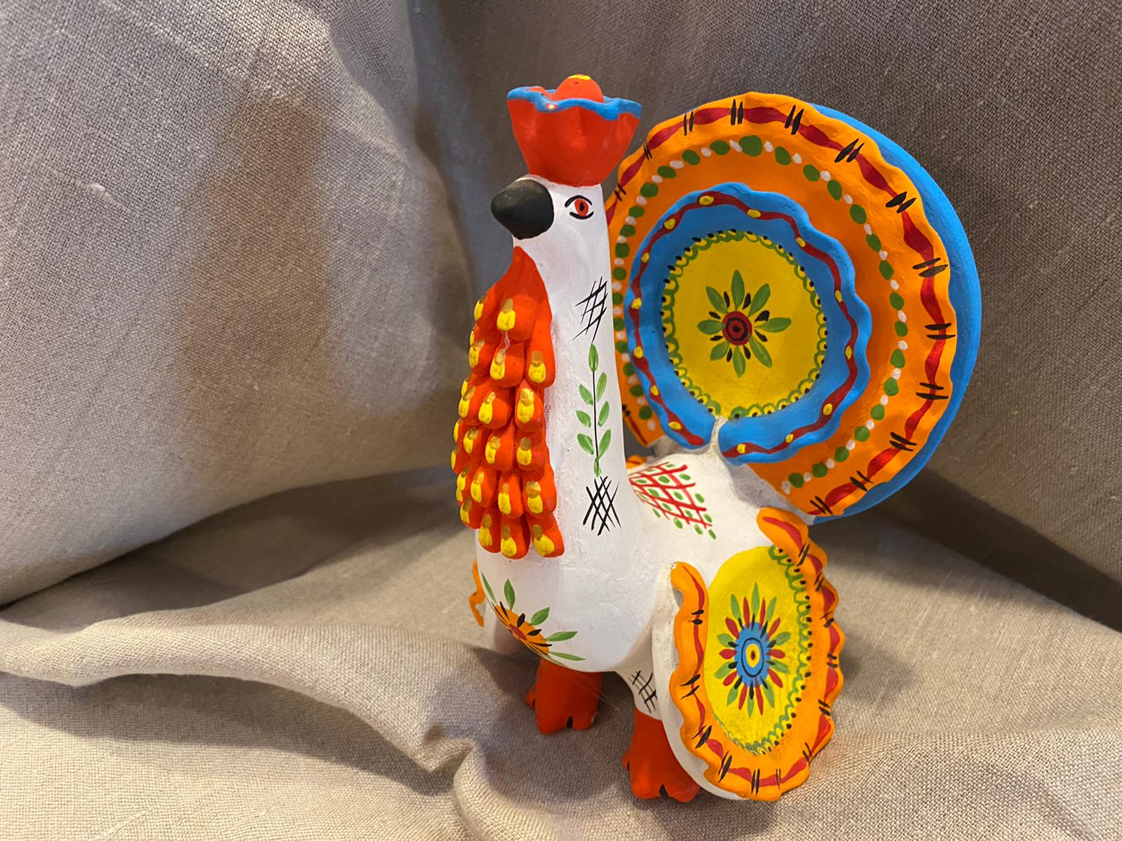 Dymkovo toys: Happy Rooster