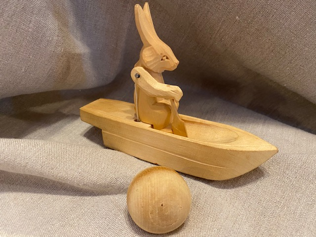 Hare in a boat